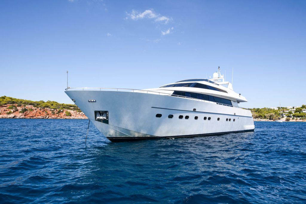 At Anchor Zen Motor Yacht For Charter In Greece
